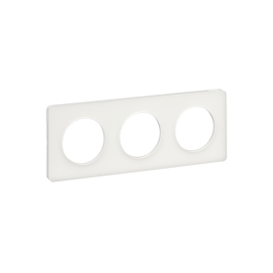 Plaque 3 postes translucide, Odace Touch SCHNEIDER