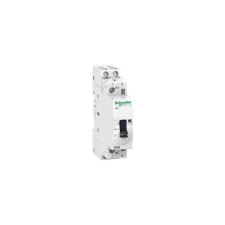 Contacteur à commande manuelle 25A 2NO 230-240VCA - Acti9, iCT SCHNEIDER