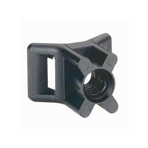 Embase noire protégée uv à visser fixable par cheville référence 031957 ou goujon Ø5mm ou vis fraisée Ø5mm (Emballage: 100) L...