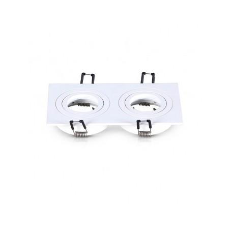 Support de spot rond double blanc orientable 175x93mm VISION EL