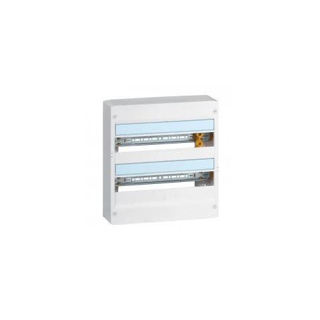 Coffret DRIVIA 18 modules 2 rangées IP30 IK05 - Blanc RAL9003 LEGRAND