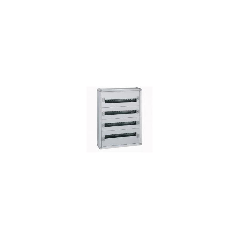 Coffret XL³160 tout modulaire 4 rangées - 96 modules - métal LEGRAND