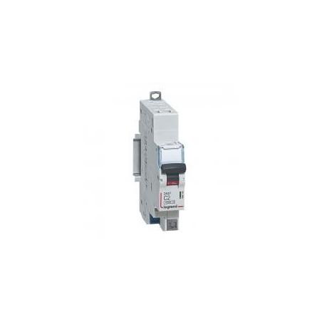 Disjoncteur 1P+N 230V~ 2A courbe C - 1 module - auto/auto - DNX3 4500 6kA LEGRAND
