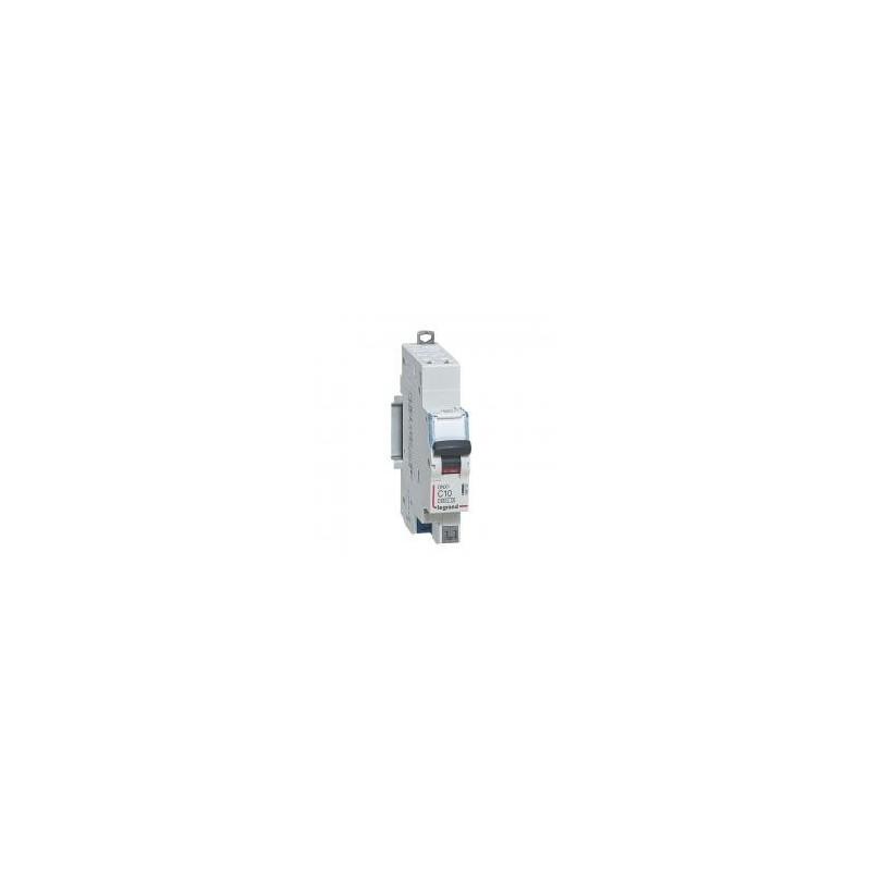 Disjoncteur 1P+N 230V~ 10A courbe C - 1 module - auto/auto - DNX³4500 6kA LEGRAND