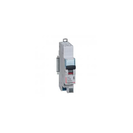 Disjoncteur 16A courbe C - 6 kA - 1P+N 230V~ - 1 module - auto/auto - DNX³4500 LEGRAND