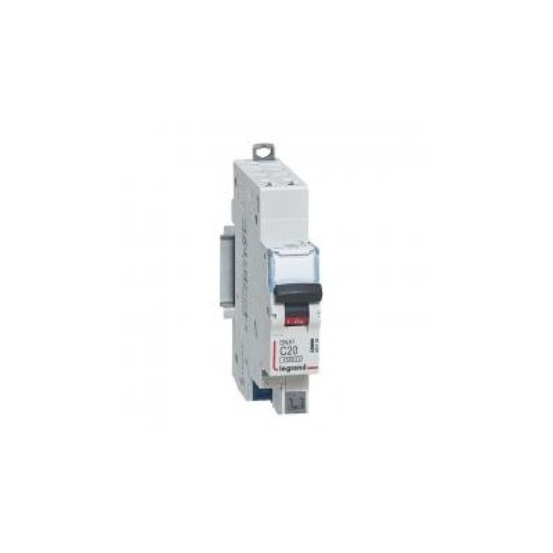 Disjoncteur 20A courbe C - 6 kA - 1P+N 230V~ - 1 module - auto/auto - DNX³4500 LEGRAND