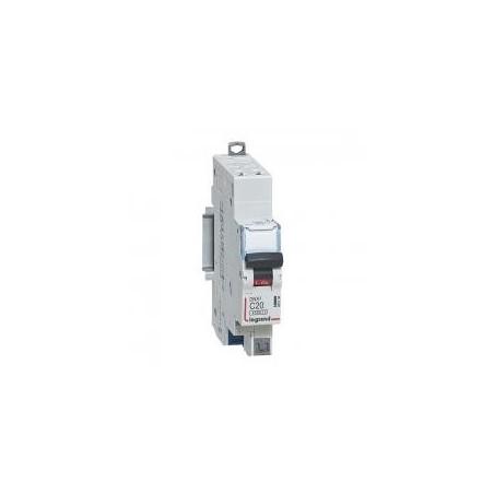 Disjoncteur 1P+N 230V~ 20A courbe C - 1 module - auto/auto - DNX³4500 6kA LEGRAND