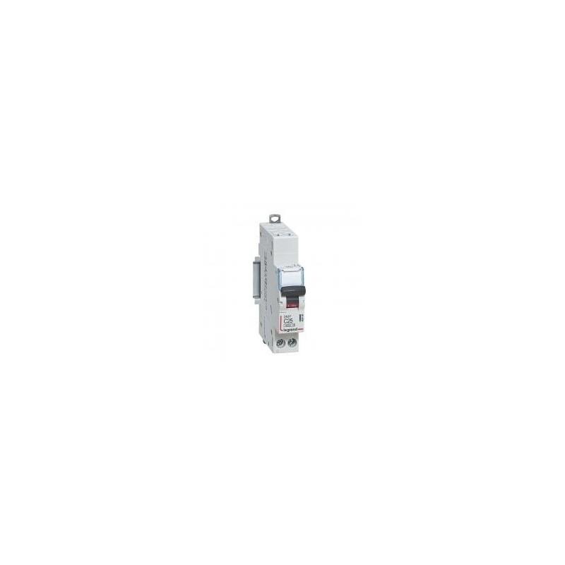Disjoncteur 1P+N 230V~ 25A courbe C - 1 module - auto/vis - DNX³4500 6kA LEGRAND