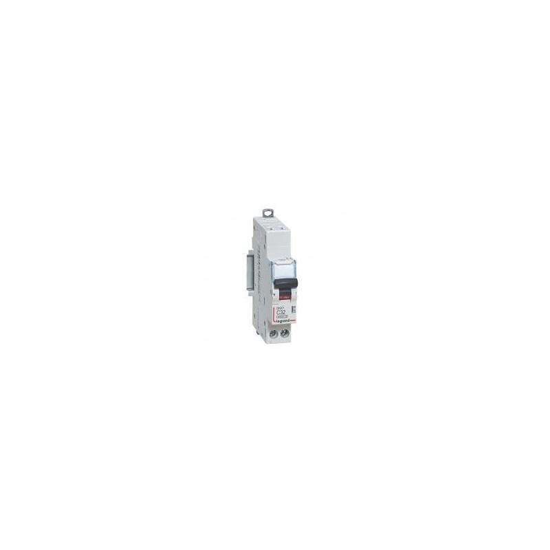 Disjoncteur 1P+N 230V~ 32A courbe C - 1 module - auto/vis - DNX³4500 6kA LEGRAND