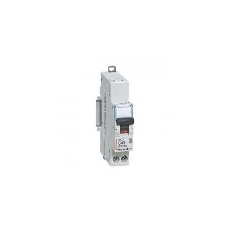 Disjoncteur 1P+N 230V~ 40A courbe C - 1 module - auto/vis - DNX³4500 6kA LEGRAND