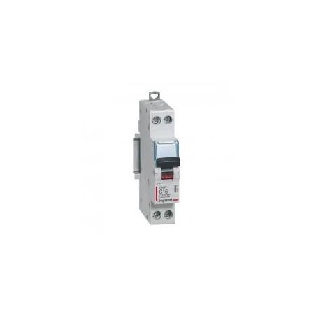 Disjoncteur Phase+Neutre 1P+N 230V~ 16A courbe C - 1 module - DNX³4500 6kA arrivée et sortie borne à vis LEGRAND