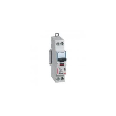 Disjoncteur Phase+Neutre 1P+N 230V~ 25A courbe C - 1 module - DNX³4500 6kA arrivée et sortie borne à vis LEGRAND