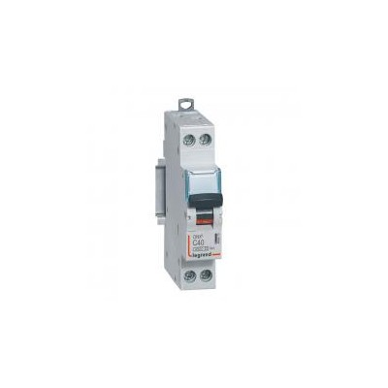 Disjoncteur 40A courbe C - 6kA - 1P+N 230V~ 1 module vis/vis - DNX³4500 LEGRAND