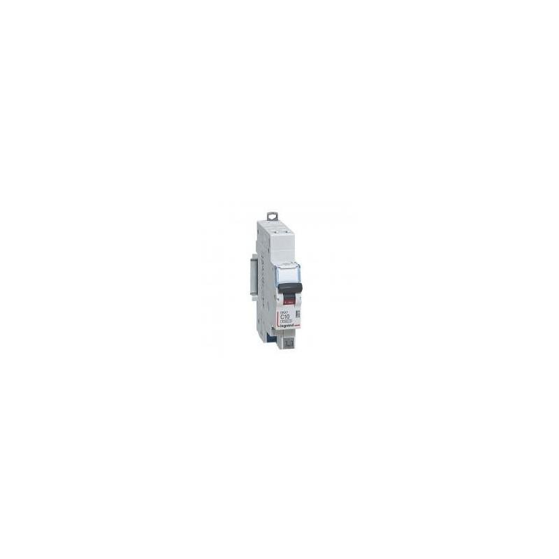 Disjoncteur Phase+Neutre DNX³4500 6kA arrivée et sortie borne automatique - 1P+N 230V~ 10A courbe D - 1 module LEGRAND