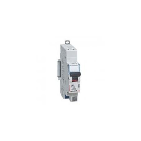 Disjoncteur 10A courbe D - 6kA 1P+N 230V~ - auto/auto -1 module - DNX³4500 LEGRAND
