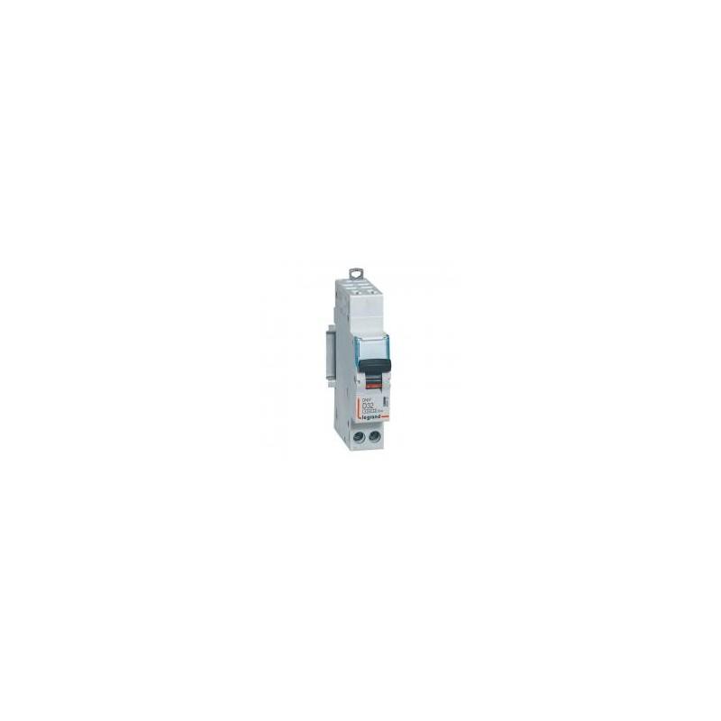 Disjoncteur Phase+Neutre DNX³4500 6kA arrivée et sortie borne automatique - 1P+N 230V~ 32A courbe D - 1 module LEGRAND