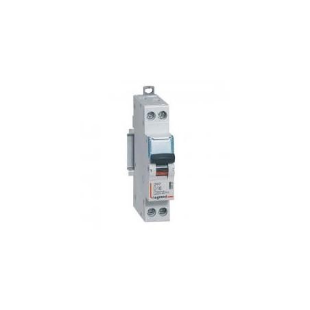 Disjoncteur 16A courbe D - 6kA - 1P+N 230V~ - vis/vis - 1 module - DNX³4500 LEGRAND