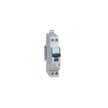 Disjoncteur Phase+Neutre DNX³4500 6kA arrivée et sortie borne à vis - 1P+N 230V~ 25A courbe D - 1 module LEGRAND