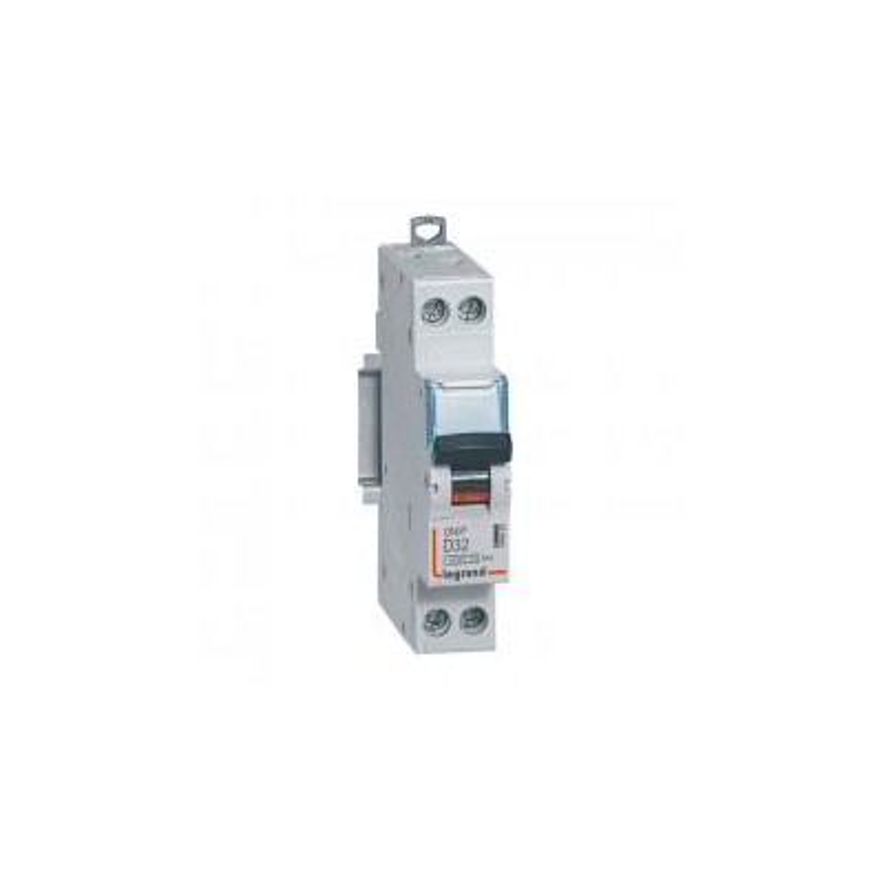Disjoncteur 32A courbe D - 6kA- 1P+N 230V~ - vis/vis -1 module - DNX³4500 LEGRAND