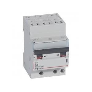 Disjoncteur tripolaire 6A courbe C - 400V~ - 1 module - auto/vis - DX³4500 6kA LEGRAND