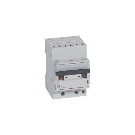 Disjoncteur tripolaire 400V~ 6A courbe C - 1 module - auto/vis - DX³4500 6kA LEGRAND