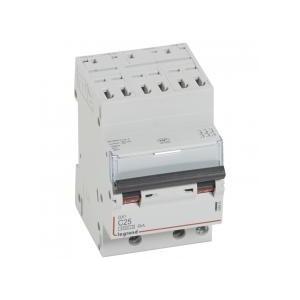 Disjoncteur tripolaire 25A courbe C - 400V~ 3 modules - auto/vis - DX³4500 6kA LEGRAND