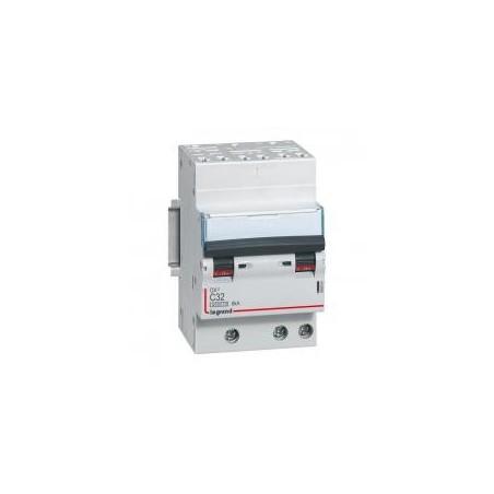 Disjoncteur tripolaire 32A courbe C - 400V~ 3 modules - auto/vis - DX³4500 6kA LEGRAND