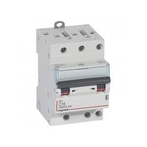 Disjoncteur tripolaire 400V~ 16A courbe C - 1 module - vis/vis - DX³4500 6kA LEGRAND
