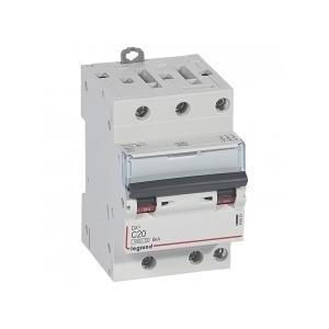 Disjoncteur tripolaire 20A courbe C - 400V~ 1 module - vis/vis - DX³4500 6kA LEGRAND