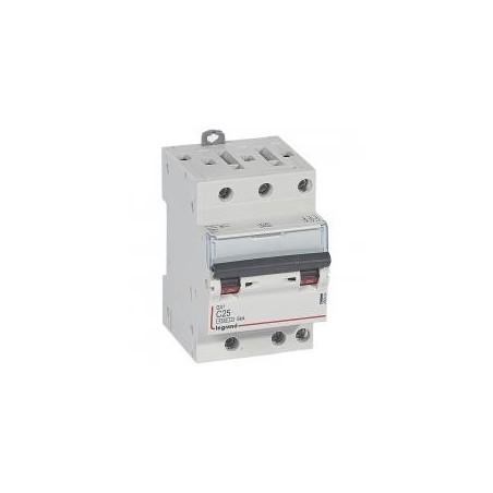 Disjoncteur tripolaire 25A courbe C - 6kA - 400V~ 1 module - vis/vis - DX³4500 LEGRAND