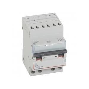 Disjoncteur DNX³4500 6kA arrivée borne automatique sortie borne à vis - tétrapolaire 400V~ 6A courbe C - 3 modules LEGRAND