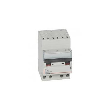 Disjoncteur tétrapolaire 400V~ 16A courbe C - 3 modules - auto/vis - DX³4500 6kA LEGRAND