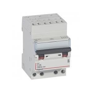 Disjoncteur DNX³4500 6kA arrivée borne automatique sortie borne à vis - tétrapolaire 400V~ 25A courbe C - 3 modules LEGRAND
