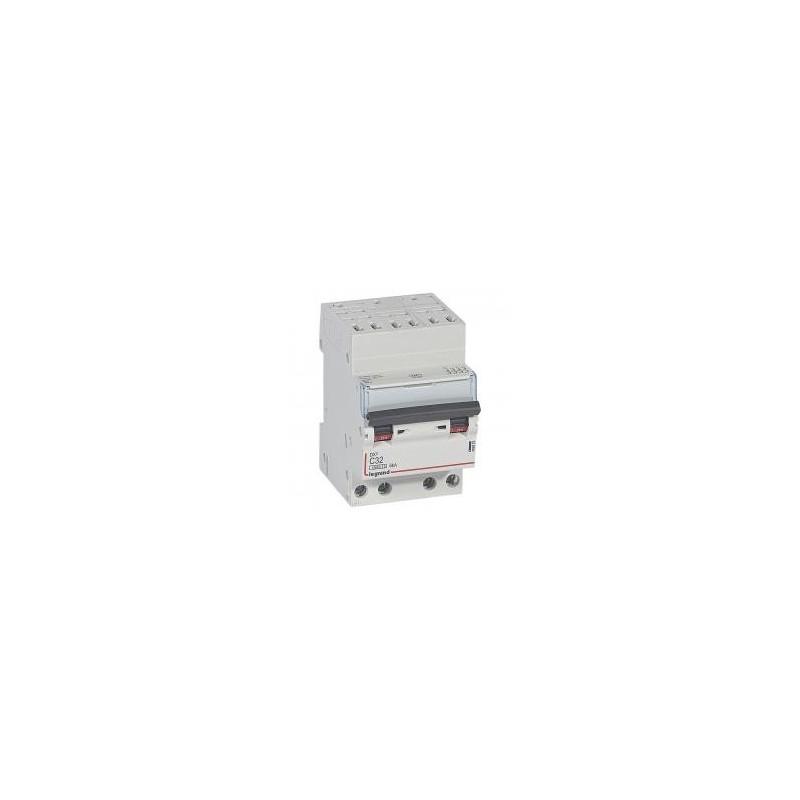 Disjoncteur tétrapolaire 32A courbe C 400V~ - 3 modules - auto/vis - DX³4500 6kA LEGRAND