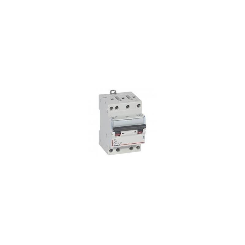 Disjoncteur tétrapolaire 6A courbe C - 400V~ 3 modules - vis/vis - DX³4500 6kA LEGRAND