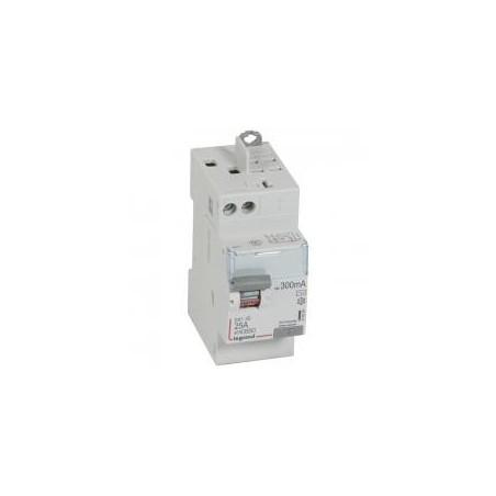 Interrupteur différentiel DX³-ID vis/auto - 2P 230V~ 25A type AC 300mA - 2 modules LEGRAND