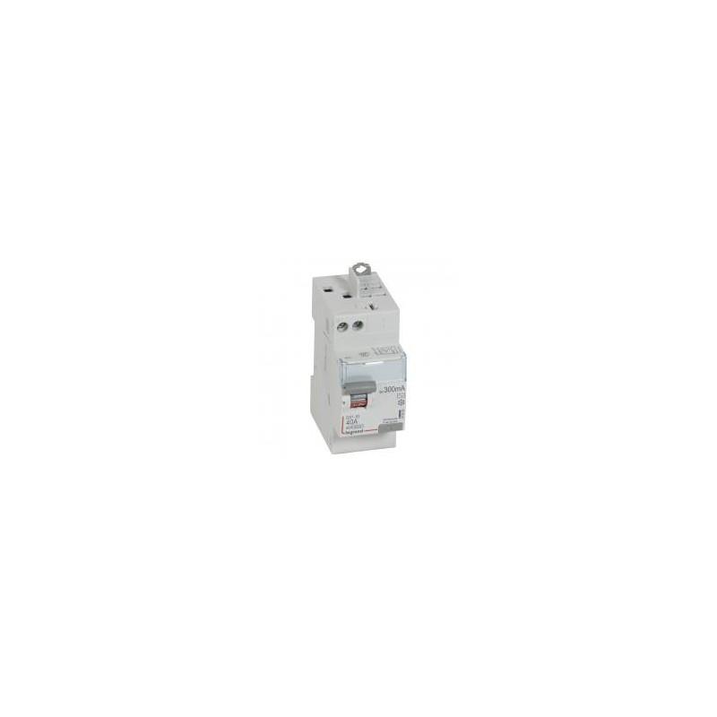 Interrupteur différentiel DX³-ID vis/auto - 2P 230V~ 40A type AC 300mA - 2 modules LEGRAND