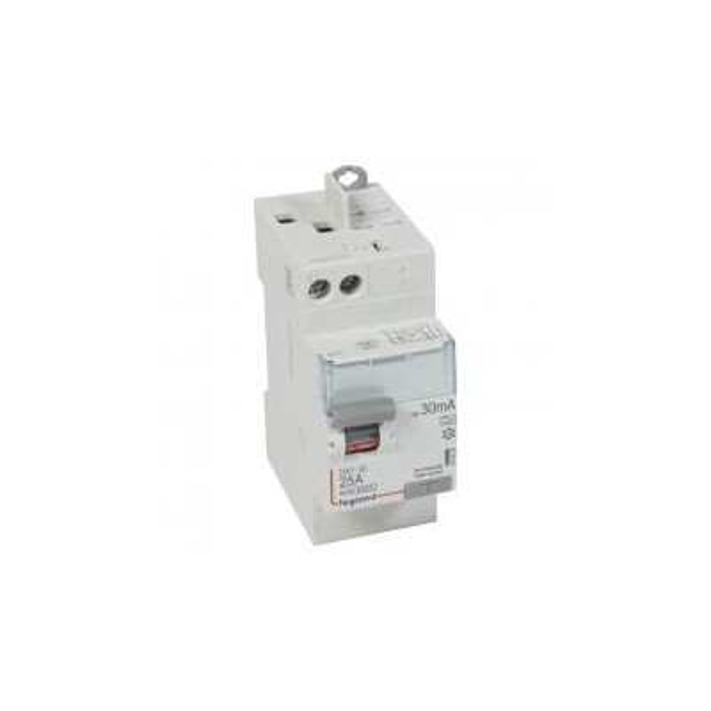 Interrupteur différentiel DX³-ID vis/auto - 2P 230V~ 25A type A 30mA - 2 modules LEGRAND