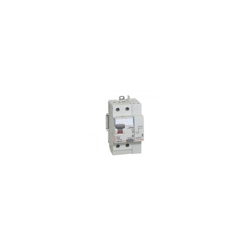 Interrupteur différentiel DX³-ID vis/auto - 2P 230V~ 63A type A 30mA - 3 modules LEGRAND