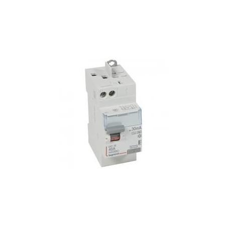 Interrupteur différentiel DX³-ID vis/auto - 2P 230V~ 40A type F 30mA - 2 modules LEGRAND