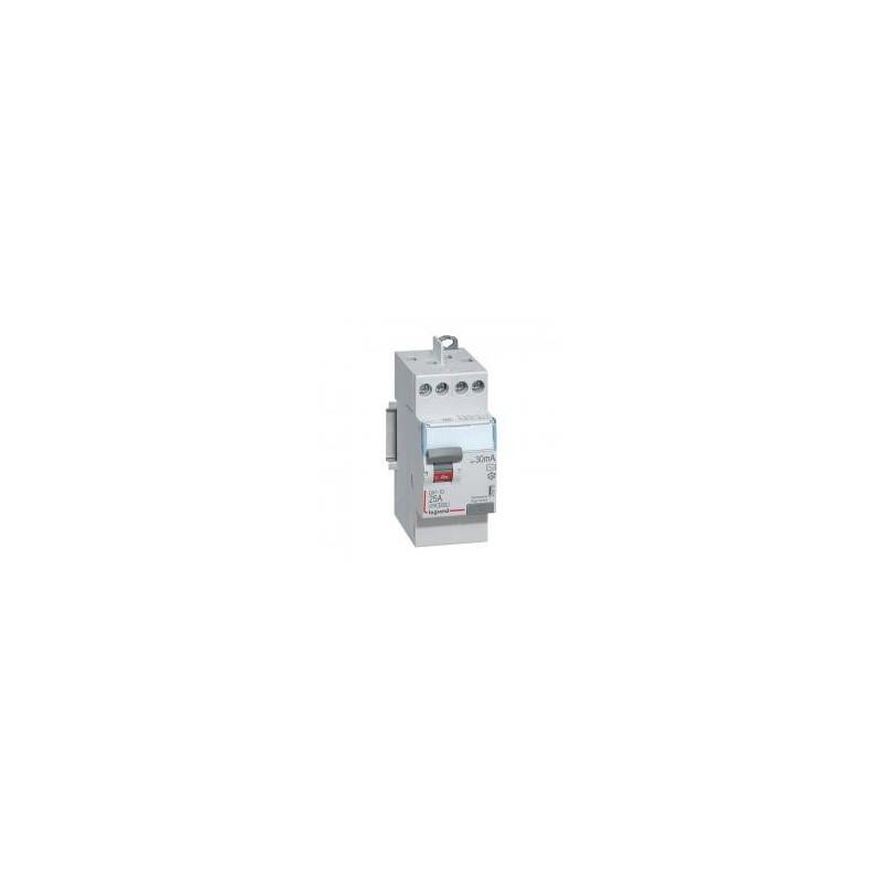 Interrupteur différentiel DX³-ID vis/vis - 2P 230V~ 25A type AC 30mA - 2 modules LEGRAND