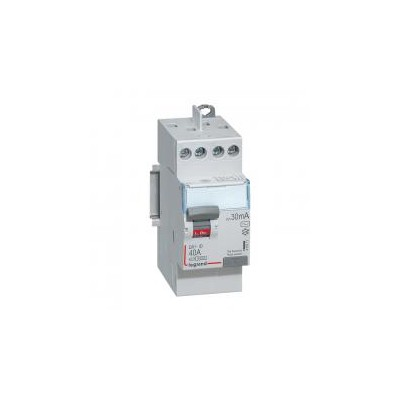 Interrupteur différentiel DX³-ID vis/vis - 2P 230V~ 40A type AC 30mA - 2 modules LEGRAND