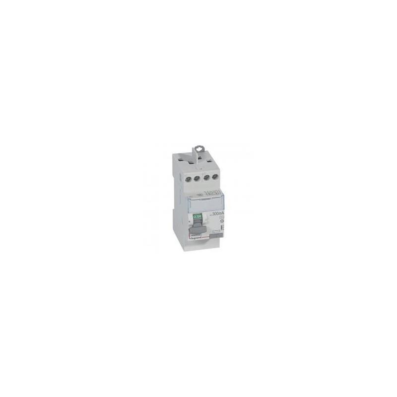 Interrupteur différentiel DX³-ID vis/vis - 2P 230V~ 25A type AC 300mA - 2 modules LEGRAND