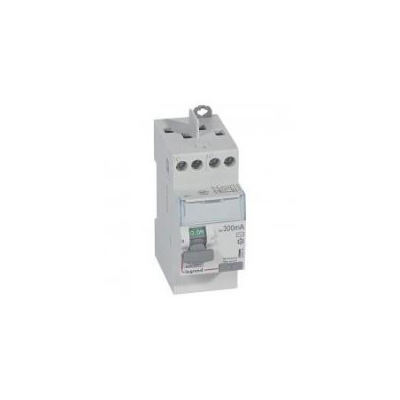 Interrupteur différentiel DX³-ID vis/vis - 2P 230V~ 40A type AC 300mA - 2 modules LEGRAND