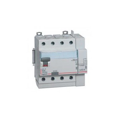 Interrupteur différentiel DX³-ID vis/auto - 4P 400V~ 40A type AC 30mA - 5 modules LEGRAND
