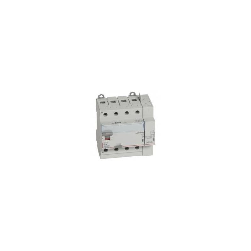 Interrupteur différentiel DX³-ID vis/auto - 4P 400V~ 63A type AC 300mA - 5 modules LEGRAND