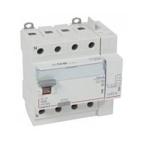 Interrupteur différentiel DX³-ID vis/auto - 4P 400V~ 40A type F 30mA - 5 modules LEGRAND