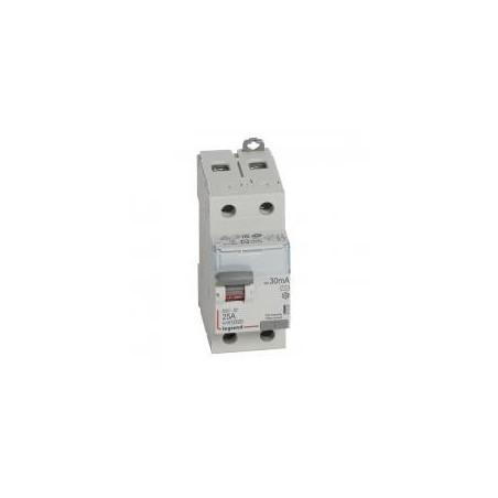 Interrupteur différentiel DX³-ID arrivée haute et départ bas à vis - 2P 230V~ 25A typeAC 30mA - 2 modules LEGRAND