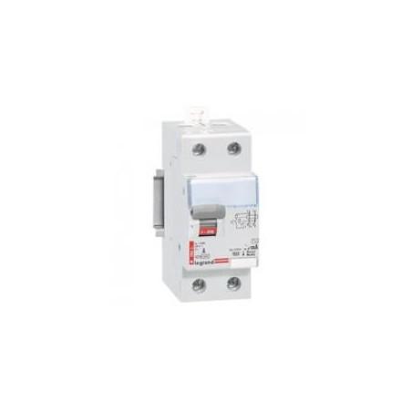 Interrupteur différentiel DX³-ID arrivée haute et départ bas à vis - 2P 230V~ 63A typeAC 30mA - 2 modules LEGRAND