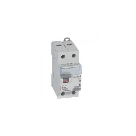 Interrupteur différentiel DX³-ID arrivée haute et départ bas à vis - 2P 230V~ 80A typeAC 30mA - 2 modules LEGRAND